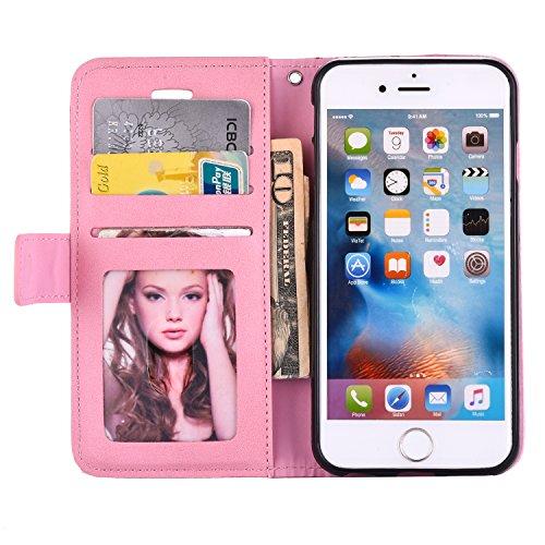 Voguecase® Pour Apple iPhone 6/6s 4,7 Coque, Étui en cuir synthétique chic avec fonction support pratique pour Apple iPhone 6/6s 4,7 (Carriage-diamant-Pink)de Gratuit stylet l'écran aléatoire universe