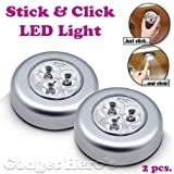 Push Lights BY SELLZER ELECTRONICS | Stick & Click LED Light | Self Adhesive | Click Push On Off Light For Kitchen Cupboard Garage