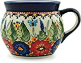 Polish Pottery Coffee Mug Bubble 16 oz Spring Splendor UNIKAT