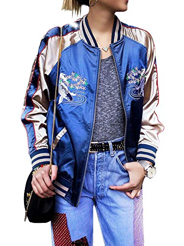 simplee-apparel-womens-casual-fish-embroidery-satin-bomber-flight-jacket-blue