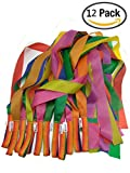 Kmool Rhythm Dance Decoration Rainbow Ribbon-12pcs per Set