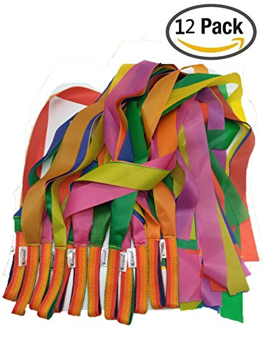 Kmool Rhythm Dance Decoration Rainbow Ribbon-12pcs per Set by KMOOL