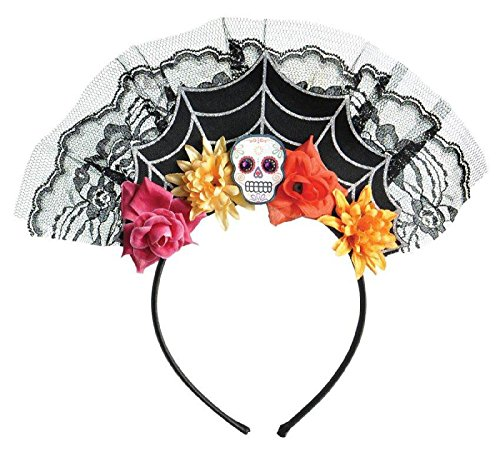 Sugar Skull Costume Accessories (Sugar Skull Tiara Headband Costume Accessory)