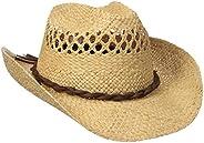 San Diego Hat Co. Men's Raffia Cowboy Hat with Adjustable Chin