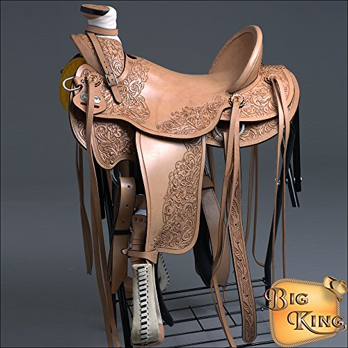 HILASON BIG KING SERIES WESTERN LEATHER WADE RANCH ROPING COWBOY TRAIL HORSE SADDLE