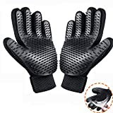 ADEKEKM Guante Cepillado Pet Grooming Gloves Hands On Pet Hair Remover Deshedding Guantes Pet Dog Cat Grooming, Shedding, Baño, Masaje, Eficientes Pinceles Magic Mitt Enhanced Five Finger Design