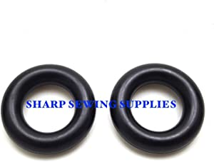 2 ~ NEW BOBBIN WINDER RUBBER TIRE RINGS for BROTHER JANOME SINGER HOME #2460