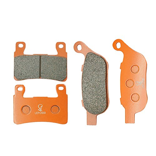 - Lefossi Front Rear Carbon Fiber Brake Pads Brakes for Harley Davidson FLSTN Softail Deluxe FLS Softail Slim FXST Softail Standard 2015-2017 FA296F FA458R
