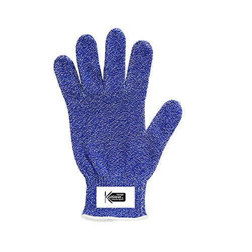 Tucker Safety 94354 Products Tucker KutGlove SF Cut Resistant Glove, Stretch Fit, Spectra Fiber, Anti-Microbial Protection, 10 Gauge, CE Level 5, Large, Blue (Pack of 6) by Tucker Safety (Image #1)