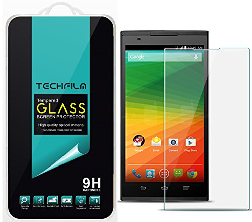 TechFilm®- ZTE Zmax [Tempered Glass] Screen Protector, Premium Ballistic Glass Round Edge [0.3mm] Ultra-Clear Anti-Scratch, Anti-Fingerprint, Bubble Free, Maximum Screen Protection from Bumps, Drops, Scrapes, and Marks [1 Pack]- Retail Packaging