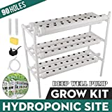 DreamJoy Hydroponic Grow Kit 90 Site 10 Pipe NFT PVC Hydroponic Pipe Home Balcony Garden Grow Kit Hydroponic Soilless Plant Growing Systems Vegetable Planting Grow Kit (90Site 10Pipe)