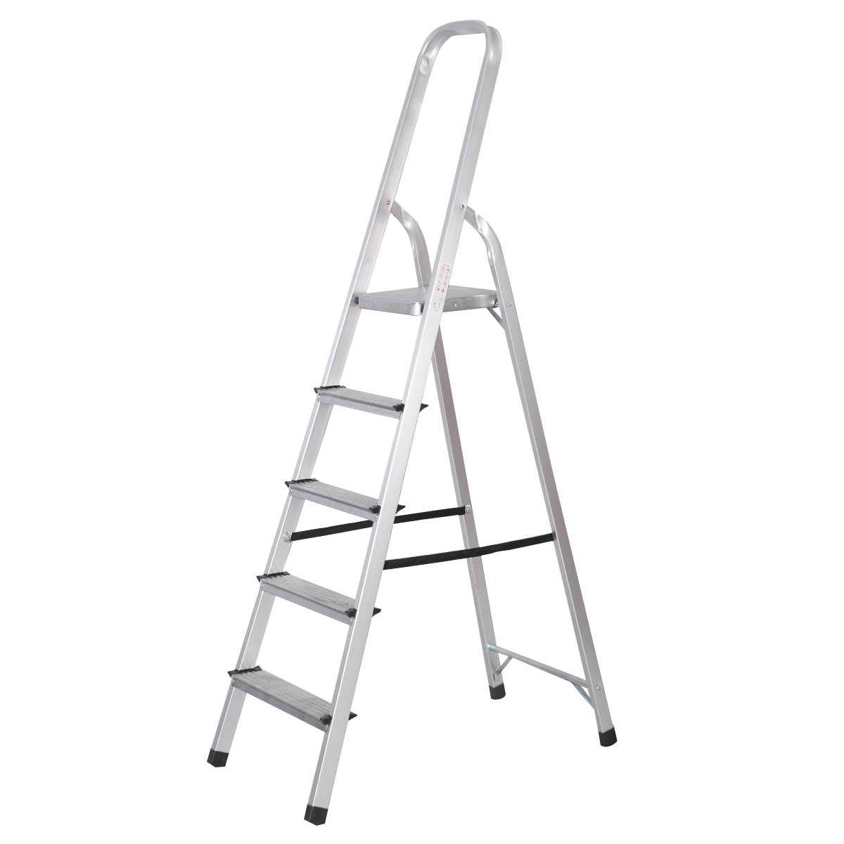 Toolsempire Foldable 5 Step Ladder Non-Slip 330 lbs Capacity Platform Aluminum New