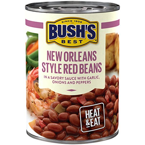 BUSH'S BEST New Orleans Style Red Savory Beans, 15.3 Ounce Can (Pack of 12)
