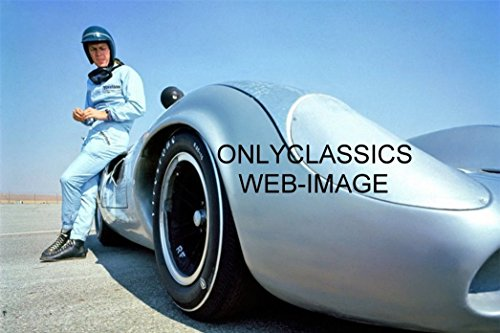 OnlyClassics 1967 Steve McQueen LOLA T70 AUTO Racing Sports CAR Photo-Wide Angle Camera Lens