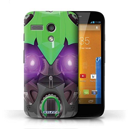 Etui / Coque pour Motorola MOTO G (2013) / Bumble-Bot Vert conception / Collection de Robots