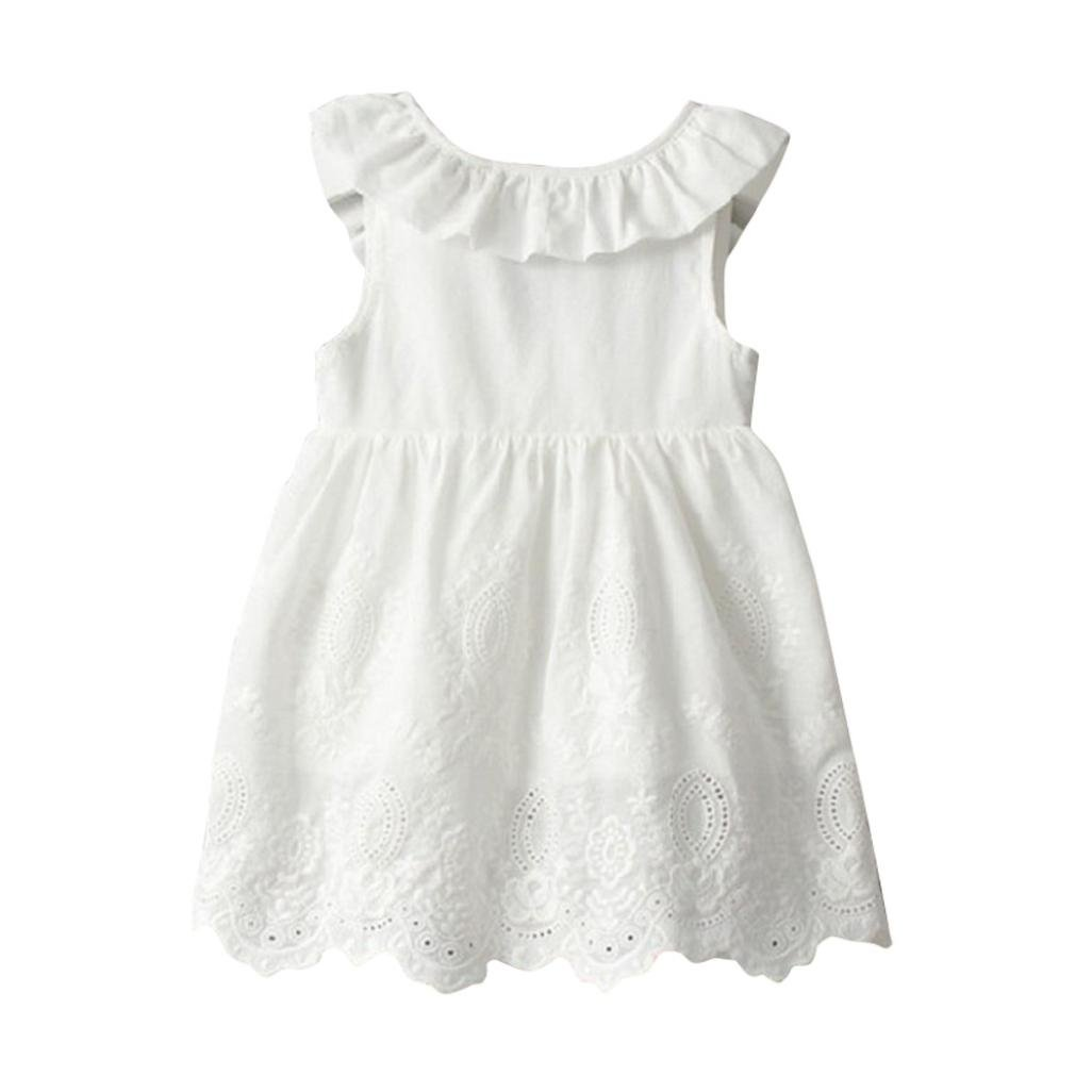 ❤ Vestidos Niñas Verano, Princesa de Las Niñas Bebés Vestidos de Fiesta Sin Mangas de Tutú Sin Mangas Absolute: Amazon.es: Ropa y accesorios