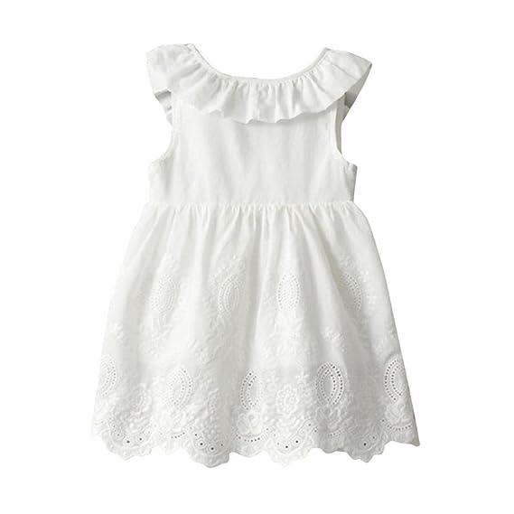 Vestidos Niñas Verano, Princesa de Las Niñas Bebés Vestidos de Fiesta Sin Mangas