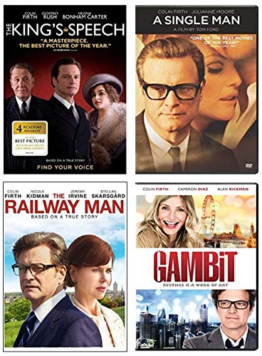 Ultimate Colin Firth 4-Movie DVD Collection: The King's Speech / A Single Man / Railway Man / Gambit [4 Film Set]