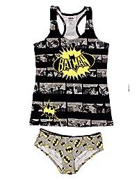 Womens Junior 2pc Batman Cami and Panty Set