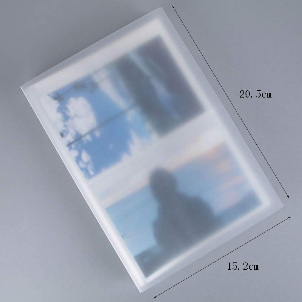 ZZHF xiangche Álbum de Fotos, Inserto Creativo Álbum Simple Transparente Capacidad Gran Capacidad Transparente Álbum portátil Altamente Transparente, Color Transparente, 80 Hojas, 5/6/7 Pulgadas, Opcional Album f7d24f