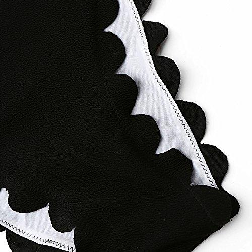 Tinta M Donna Costume Estate Costumi Intero Bagno Free Falbala Jewelrywe Da Bikini Unita Backless Wire Nero awZBd8Eq
