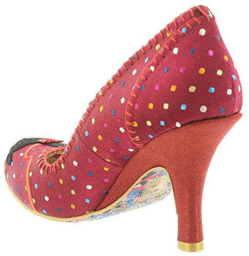 Irregular Choice - Zapatos de vestir de tela para mujer Rojo - rojo