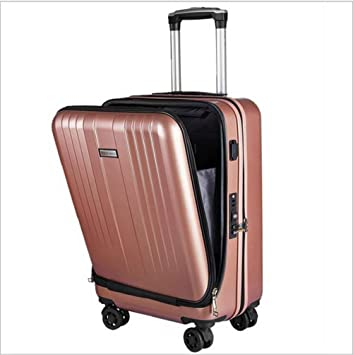 TINGITNG Trolley Business Laptop Bag Carrito con Ruedas Tamaño Computadora Bolso Maletín Carry On Roller Cases,Rosegold: Amazon.es: Deportes y aire libre
