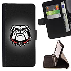 DEVIL CASE - FOR HTC One M9 - G Bulldog English Bulldog Dog - Style PU Leather Case Wallet Flip Stand Flap Closure Cover