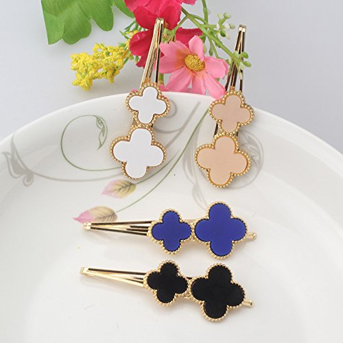 (Pyrsun(TM) Summer Style Women 7 CM Solid Flower Headbands Hairpins Girls Hair Accessories Gold Metal Cross Hair clips Charming Gift)