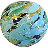 Allsop Casa y jardín Aurora resplandor solar vidrio Cadena de seis Globes, Tropical y playa, Sea Glass