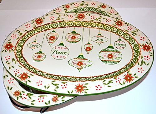 Temp-tations Poinsetta 3 -Piece Ovenware