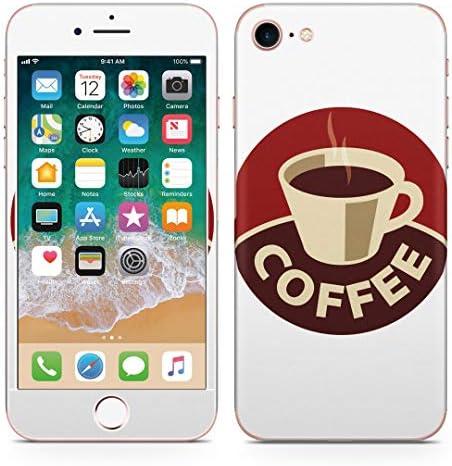igsticker iPhone SE 2020 iPhone8 iPhone7 専用 スキンシール 全面スキンシール フル 背面 側面 正面 液晶 ステッカー 保護シール 008868 ユニーク イラスト コーヒー 珈琲