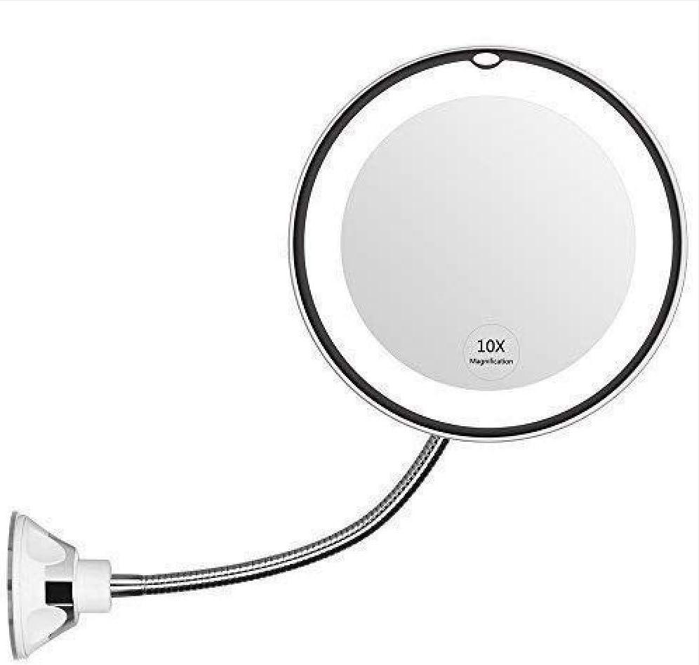 MOOUK Mirror Headlight 20X Makeup Mirror 20 Degree Suction Cup ...