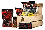 Ultimate Sriracha Snack Crate (Sweet & Spicy) - Specialty Food Gift For Men - Comes in a Wooden Gift Crate - Sriracha Snack Pack Gift Basket