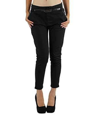 6dfe5243905e9 5ème Saison - Pantalon coupe 7/8 taille haute Chic et Jeune. - Femme ...