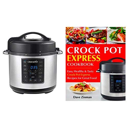 Bundle Includes 2 Items - Crock-Pot 6 Qt 8-in-1 Multi-Use Express Crock Programmable Slow Cooker, Pressure Cooker, Sauté, and Steamer, Stainless Steel (SCCPPC600-V1) and Crock Pot Express Cookbook (Best Crock Pot Pressure Cooker)