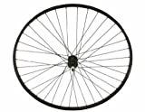 27'' x 1 1/4'' Alloy Free Wheel 14G Black. Bicycle wheel, bike wheel, 27'' bike wheel, 27'' bicycle wheel, fixed gear bike, track bike, bike part, bicycle part