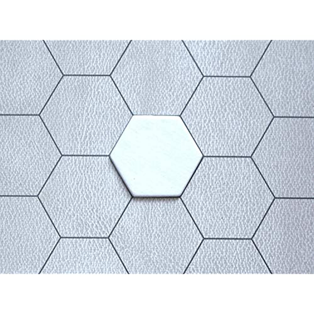 "X200-1"" Blank  Hexagon Hex Board Game Tiles Counters Chits Markers DIY D/&D"