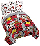 Jay Franco Disney/Pixar Incredibles Super Family 5 Piece Full Bed Set - Includes Reversible Comforter & Sheet Set - Super Soft Fade Resistant Polyester - (Official Disney/Pixar Product)