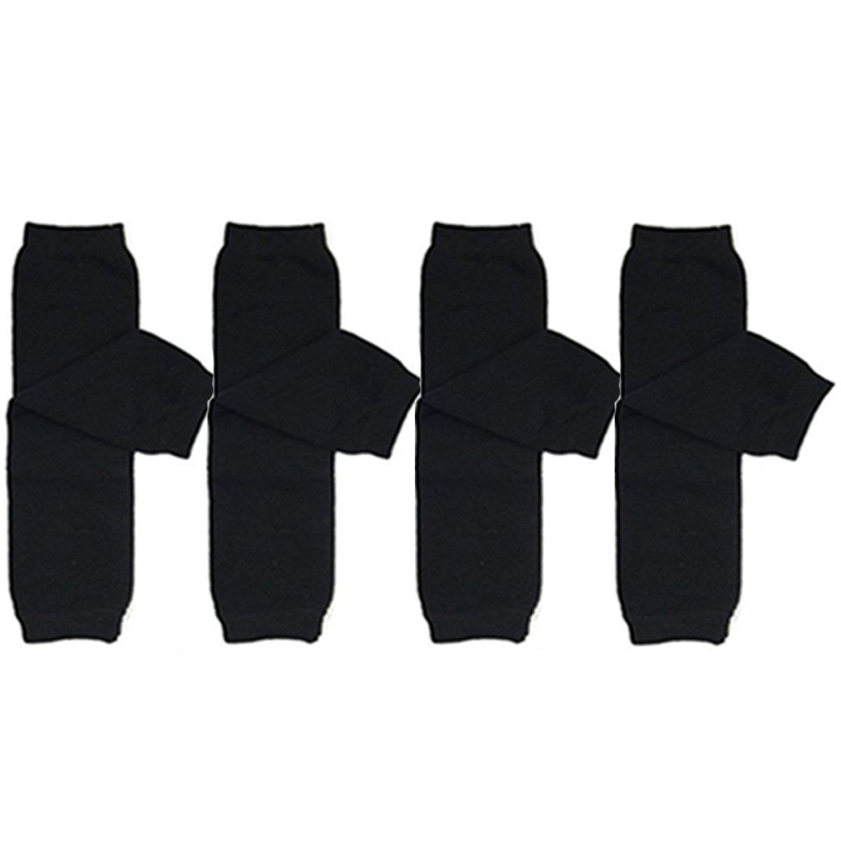 ALLYDREW 4 Pack Solid Baby Leg Warmer Set & Toddler Solid Leg Warmer Set for Boys & Girls (Black) by allydrew