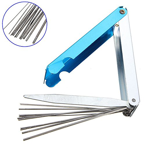 Ginode 13 in 1 Torch Tip Cleaner Tools Welding Tip Cleaner Nozzle Cutting Needles Kit Stainless Steel Reamers for Welding Soldering Cutting (1-pack)