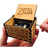 Biscount The Legend of Zelda Movie Theme Antique Carved Music Box Hand Crank Wooden Musical Box Toy