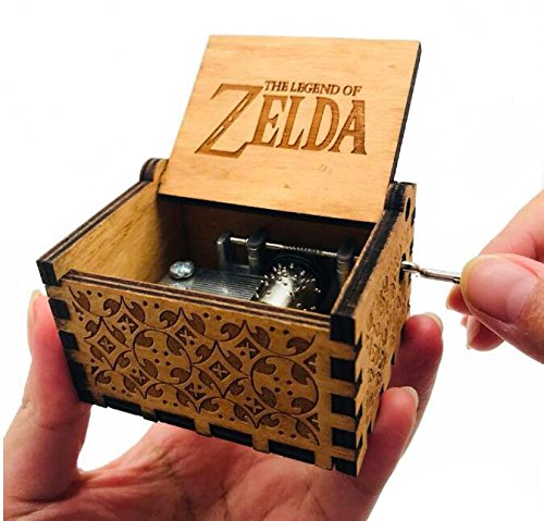 Biscount The Legend Zelda Movie Theme Antique Carved Music Box Hand Crank Wooden Musical Box Toy