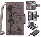 UNEXTATI Sony Xperia Z5 Case, Flip Stand Leather Case...