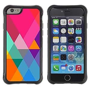 "Hypernova Defender Series TPU protection Cas Case Coque pour Apple Iphone 6 PLUS 5.5 [Teal Naranja Polígono Triángulo Patrón""]"