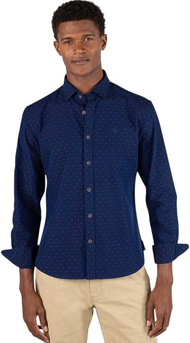 El Ganso - Colección AW19 - Camisa Indigo Fill Coupe - para Hombre - Manga Larga: Amazon.es: Ropa y accesorios