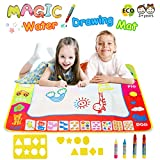 Toys : Magic Water Doodle Mats Water Drawing Mat Large 32x24in Painting Pad With 4 Pens 8 Molds Learning Educational Toddler Toys Toddler Gifts for Girls Boys Age 2 3 4 5+ Year old Girl Gifts Boy Gifts