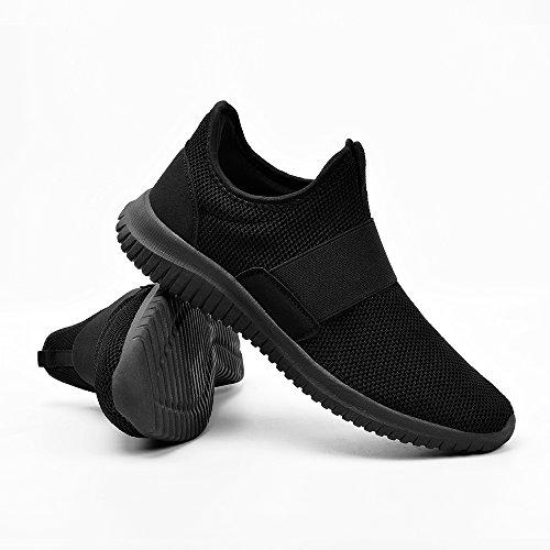 Sneaker ZOCAVIA Herren Freizeitschuhe on Schwarz Atmungsaktiv Laufschuhe Sportschuhe Slip Damen Leicht nXXqpRUg