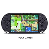 Games Console GBA/NES Handheld Game Machine Classic Nostalgia X9 Rechargeable 5.0 inch 8G Handheld Retro Game Console Video MP3 Player Camera (Black)