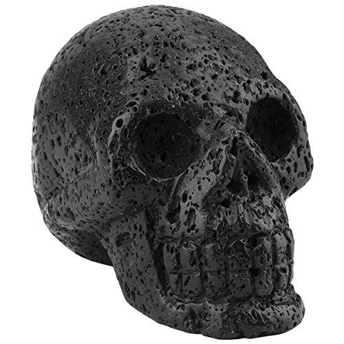 (rockcloud Healing Crystal Stone Human Reiki Skull Figurine Statue Sculptures Lava Rock)